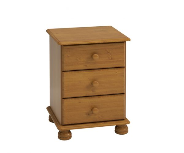 Steens Richmond Pine 3 Drawer Bedside Cabinet