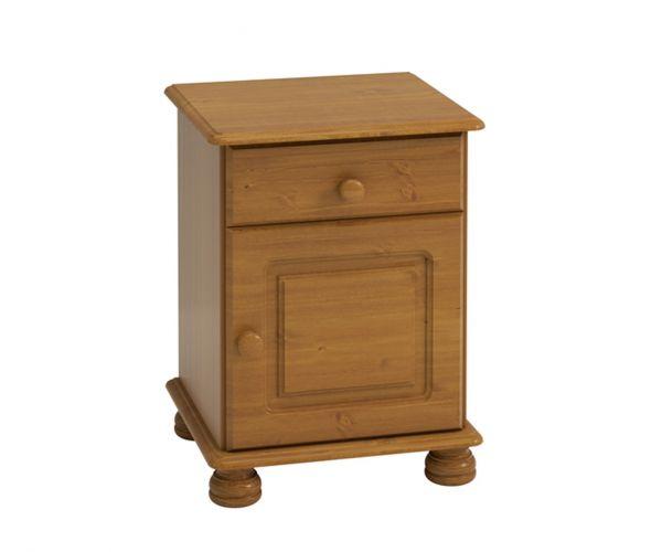 Steens Richmond Pine 1 Drawer 1 Door Bedside Cabinet