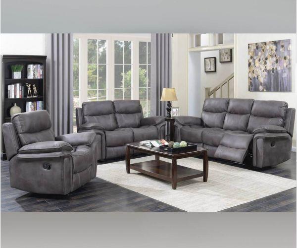 Annaghmore Richmond Graphite Grey Fabric Recliner 3+2 Sofa Suite