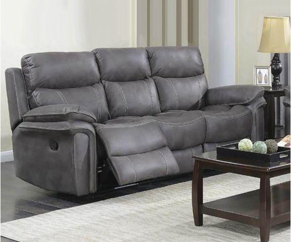 Annaghmore Richmond Graphite Grey Fabric Recliner 3 Seater Sofa