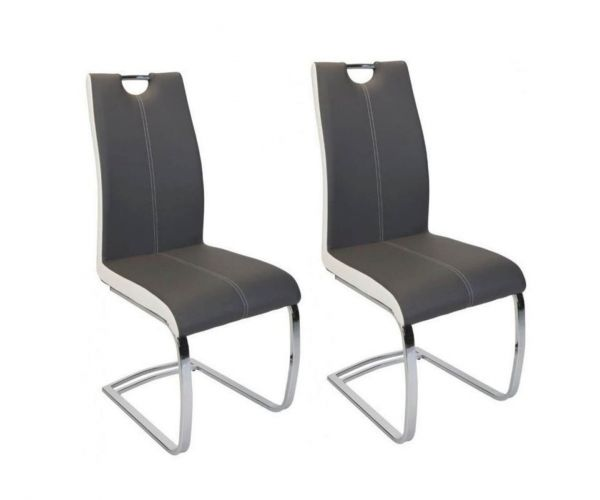Greenapple Furniture Rimini Grey Dining Chair in Pair
