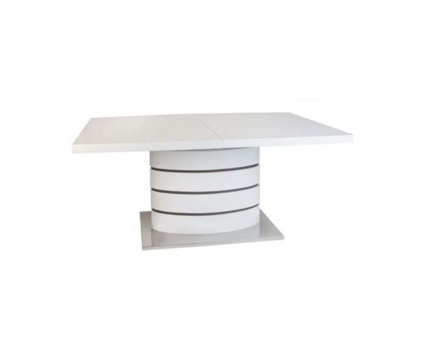 Greenapple Furniture Rimini White Extending Dining Table Only