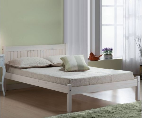 Birlea Furniture Rio White Washed Pine Bed Frame