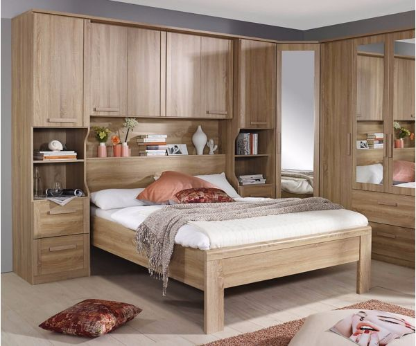 Rauch Furniture Rivera  Oak Finish Overbed Unit