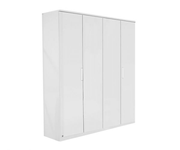 Rauch Rivera Alpine White 4 Door Wardrobe with Cornice (W181cm)