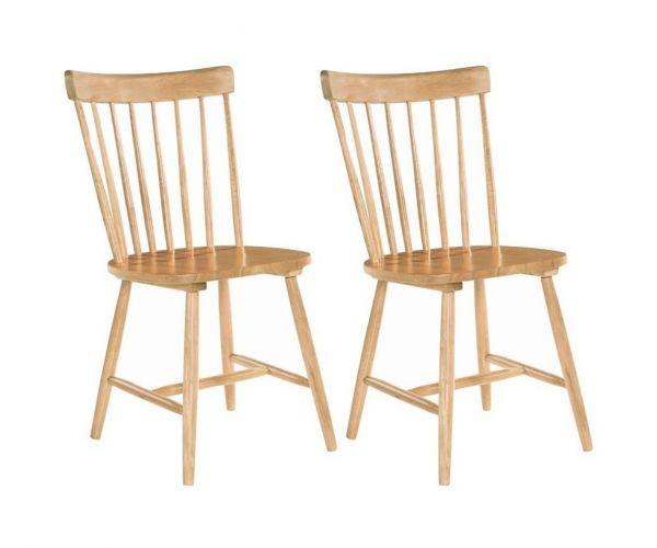 Annaghmore Rosa Oak Dining Chair in Pair