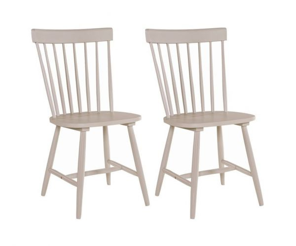 Annaghmore Rosa Stone Grey Dining Chair in Pair