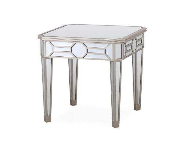 Vida Living Rosa Mirrored Lamp Table