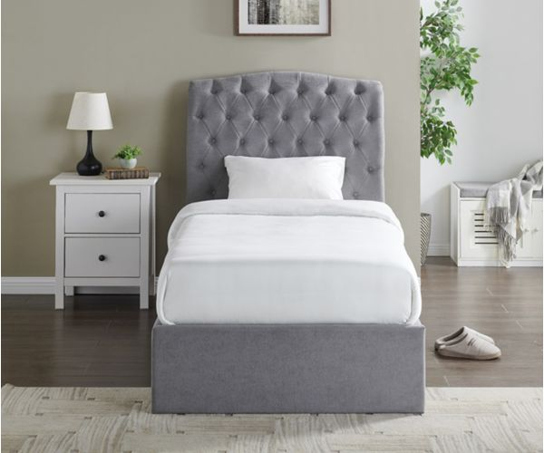 Limelight Rosa Light Grey Fabric Storage Bed Frame