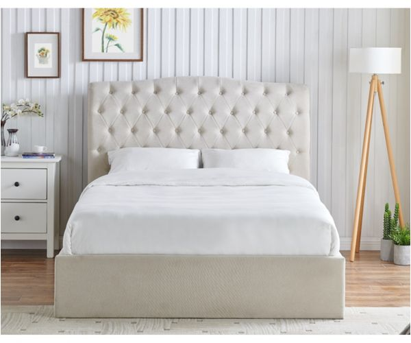 Limelight Rosa Natural Fabric Storage Bed Frame
