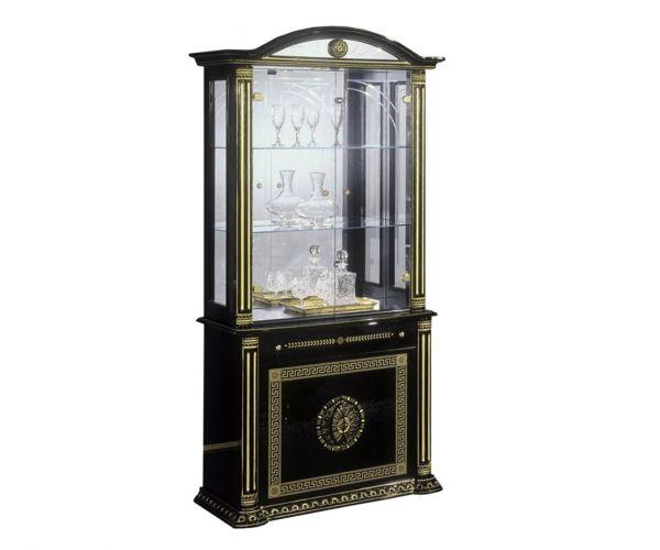 H2O Design Rossella Black and Gold Italian 2 Door Vitrine