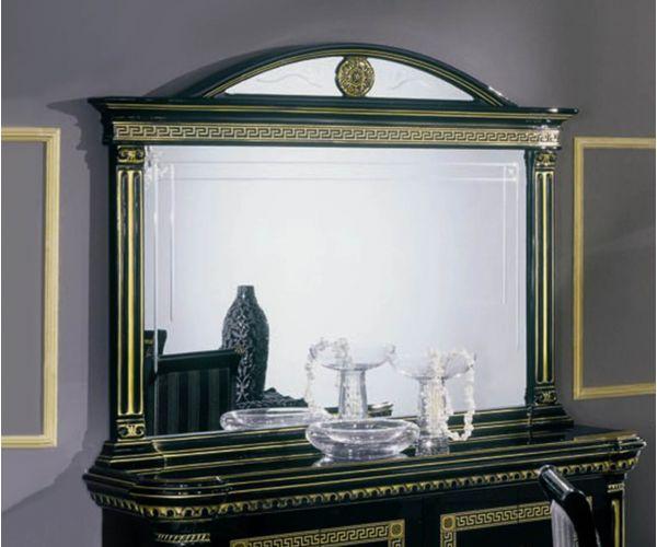 H2O Design Rossella Black and Gold Italian Buffet Mirror