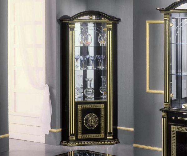 H2O Design Rossella Black and Gold Italian Corner Unit