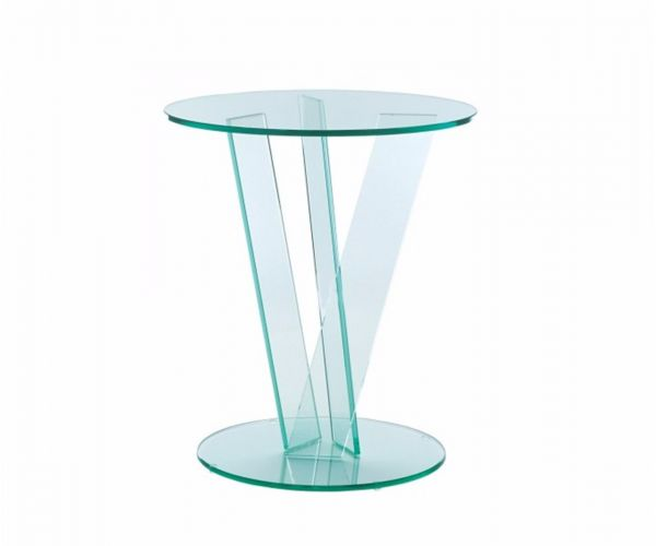 Greenapple Furniture Round Occasional Table with V Base