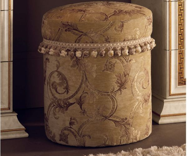 Arredoclassic Leonardo Italian Round Pouf