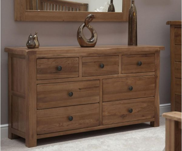 Homestyle GB Rustic Oak Multi 7 Drawer Chest