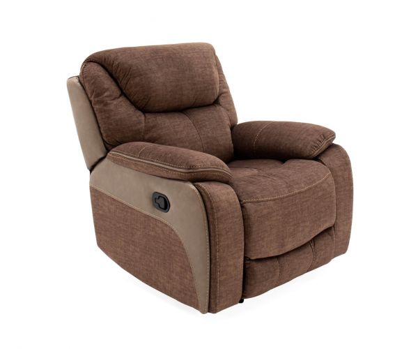 Vida Living Santiago Brown Fabric Recliner Chair