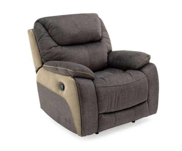 Vida Living Santiago Grey Fabric Recliner Chair