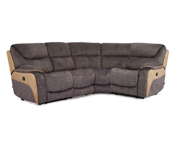 Vida Living Santiago Grey Fabric Recliner Corner Group Sofa