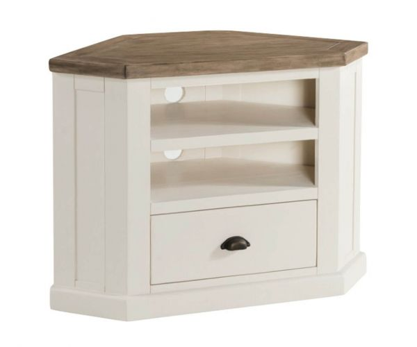 Annaghmore Santorini Painted Corner TV Unit