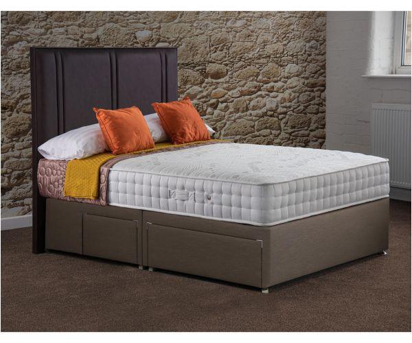 Sweet Dreams Sapphire Memory 1000 Pocket Sprung Divan Bed Set