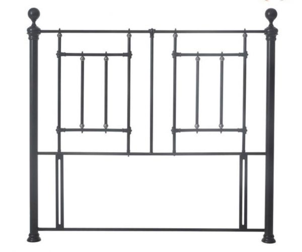 Sareer Fullerton Black Antique Brass Metal Headboard