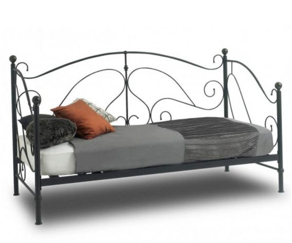 Sareer Milano Black Metal Day Bed Frame