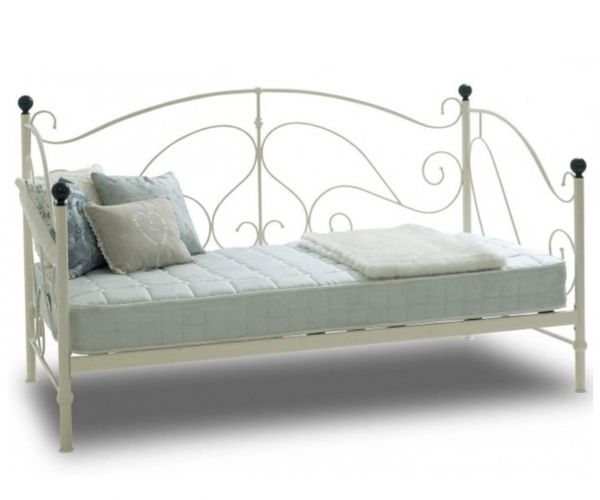 Sareer Milano Cream Metal Day Bed Frame