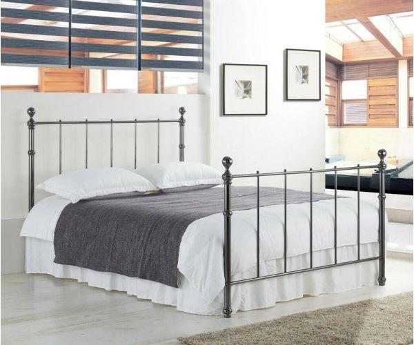 Sareer Seville Brushed Nickel Metal Bed Frame
