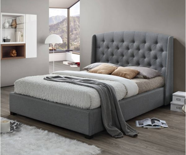 Sareer Signature Grey Fabric Ottoman Bed Frame