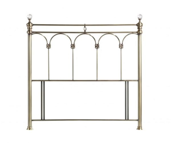 Sareer Sonita Black Nickel Metal Headboard