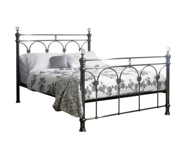 Sareer Sonita Black Nickel Metal Bed Frame