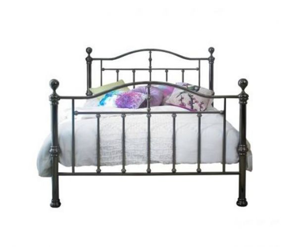 Sareer Victoria Black Nickel Metal Bed Frame