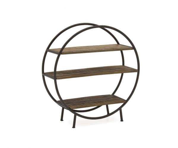 Vida Living Savannah Round Bookcase