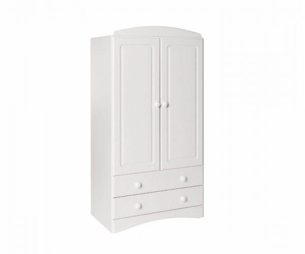 FTG Scandi White Combi 2 Door 2 Drawer Wardrobe