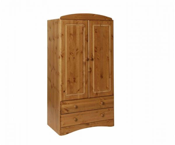 FTG Scandi Pine 2 Door 2 Drawer Wardrobe