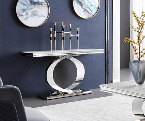 Vida Living Selene Bone White Console Table