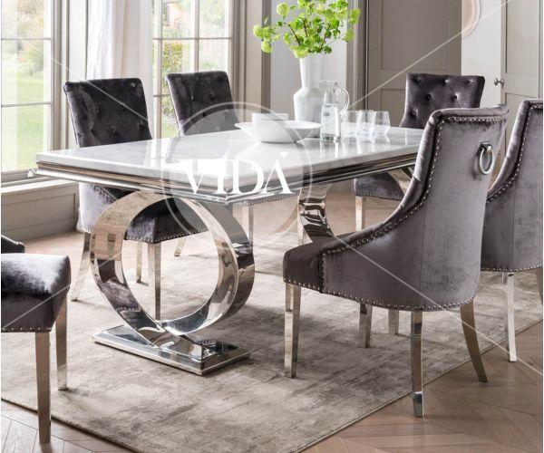 Vida Living Selene Bone White Dining Table Only