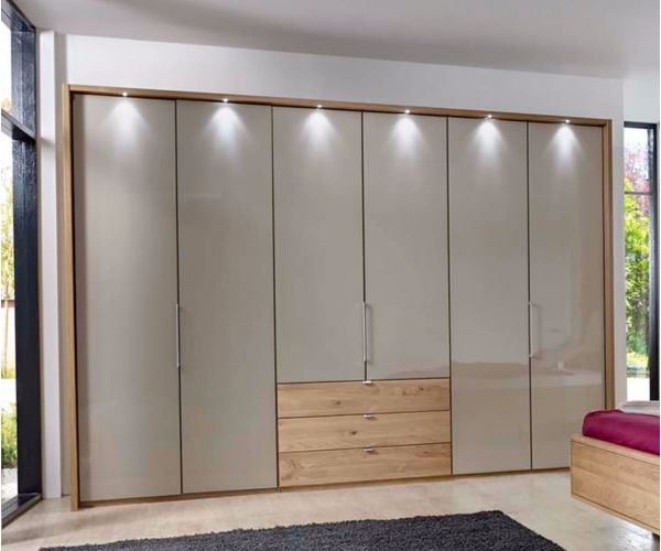 Wiemann Serena Combi Wardrobe with Mangolia Glass Front