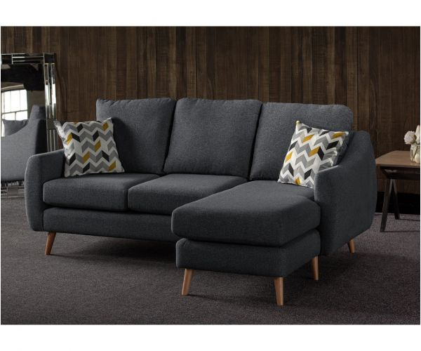 Sweet Dreams Severn Charcoal Fabric Corner Chaise Sofa