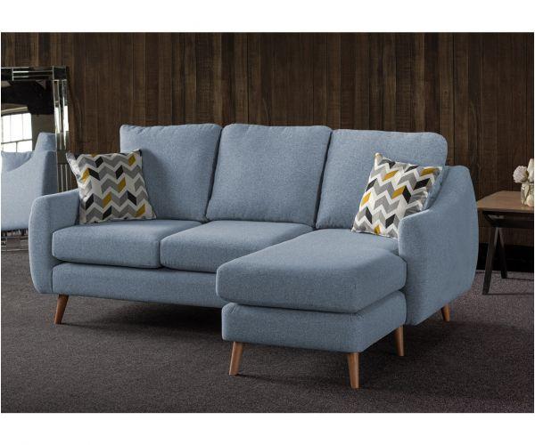 Sweet Dreams Severn Denim Fabric Corner Chaise Sofa