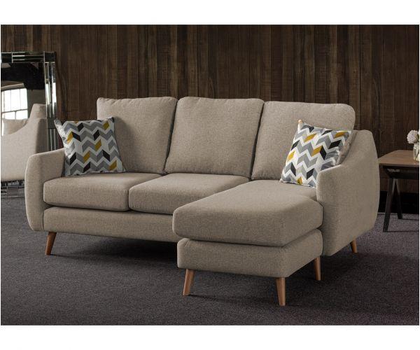 Sweet Dreams Severn Oatmeal Fabric Corner Chaise Sofa