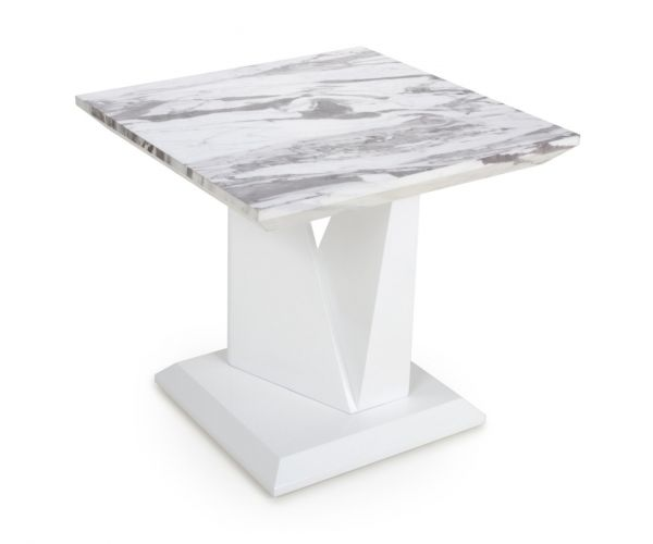 Shankar Saturn Marble Effect Top Lamp Table