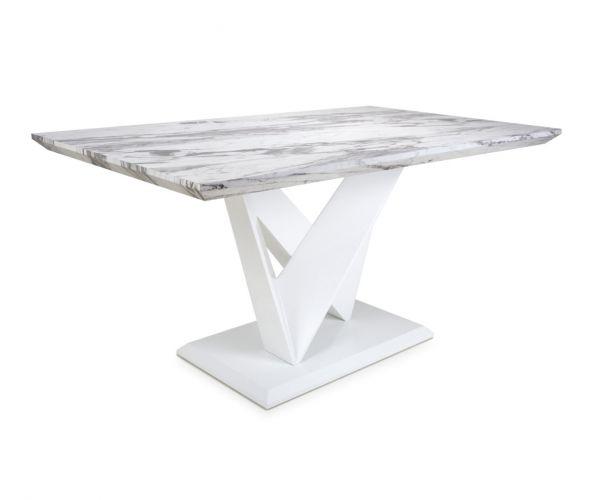 Shankar Saturn Medium Marble Effect Top Dining Table