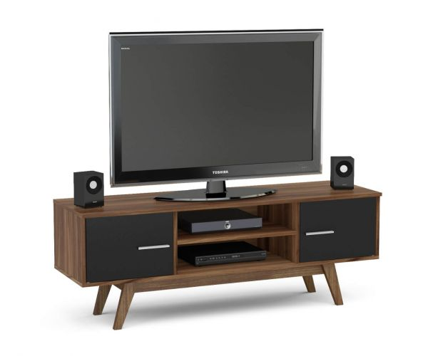 Birlea Furniture Shard Walnut and Black TV Unit