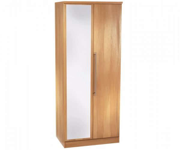 Welcome Furniture Sherwood Wooden 2ft6in Mirror Robe
