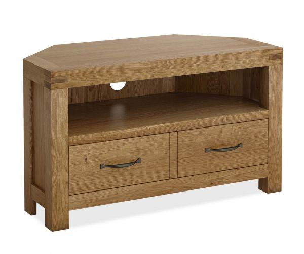 Global Home Sherwood Oak Corner TV Cabinet