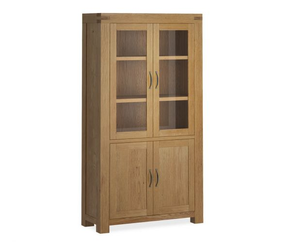 Global Home Sherwood Oak Display Cabinet