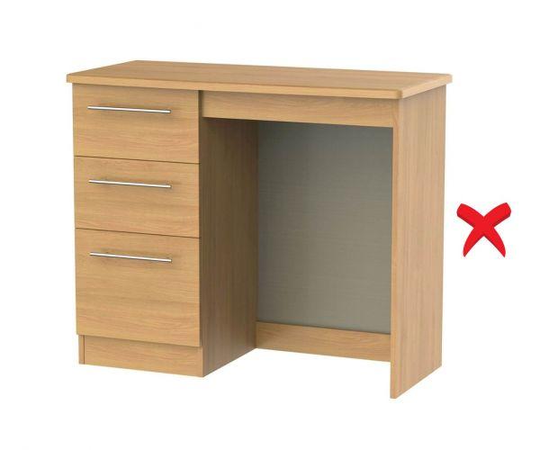 Welcome Furniture Sherwood Wooden 3 Drawer Vanity Unit