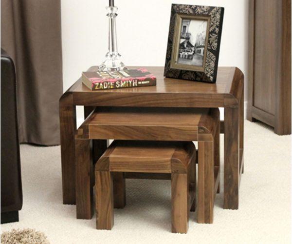 Baumhaus Shiro Walnut Nest Of 3 Coffee Table